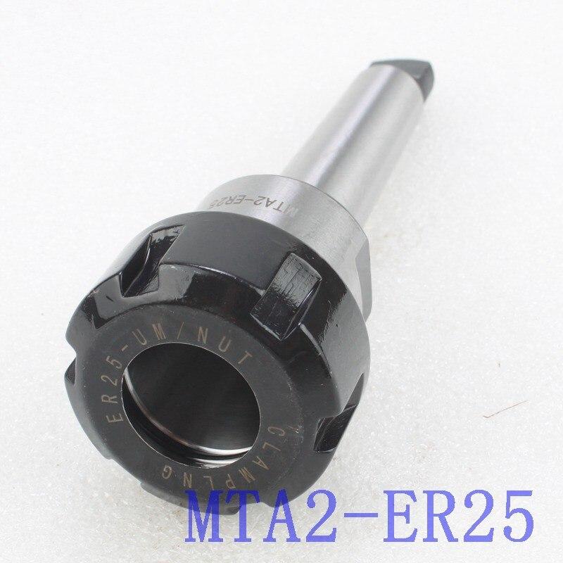 ER25 MT2 MTA2 Morse 2 mango cónico cola plana Collet Chuck titular de la fresadora CNC de espuma