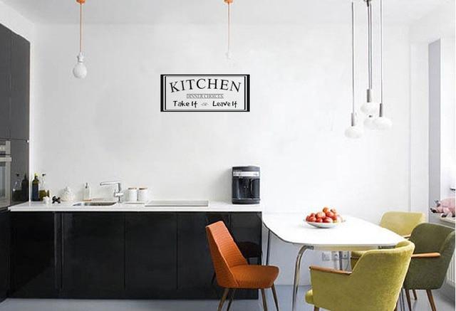 Parete Della Cucina : Autoadesivo della parete della cucina cena scelte prendere o