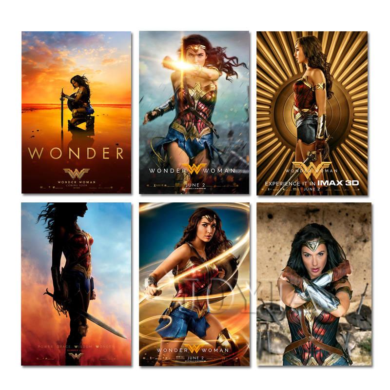 Wonder Woman and Batman Movie Art Silk Poster 13x20 20x30 inch Wall Decor 004