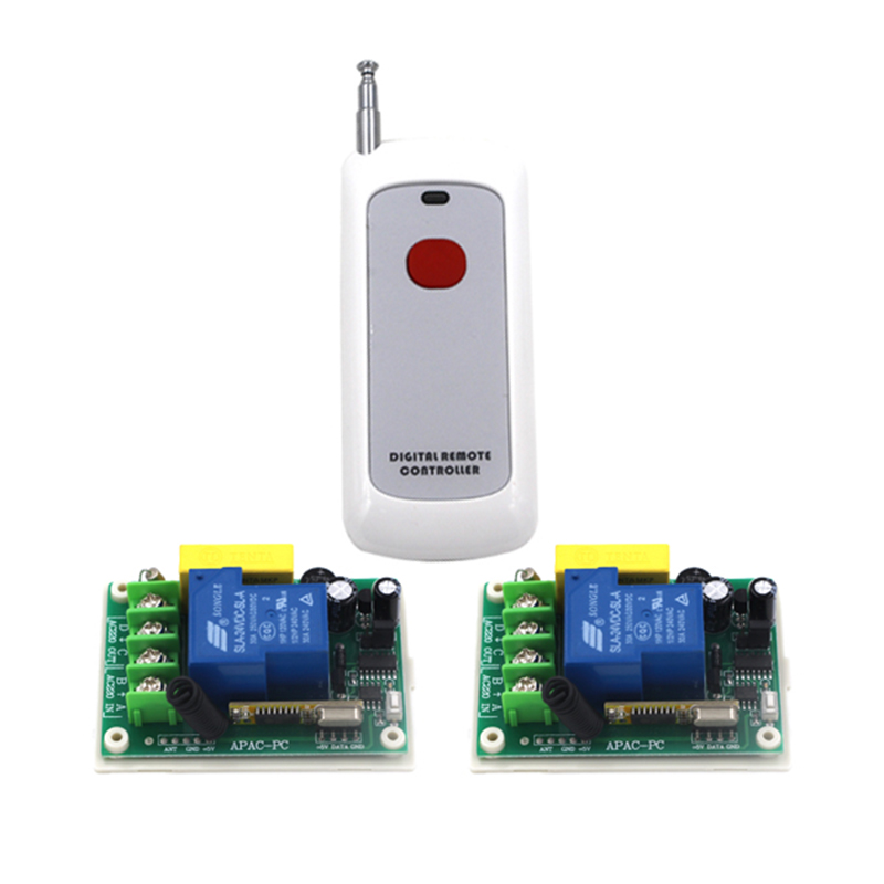Water Pump remote control switch 220V 30A 1CH high-power with 1000M control remote Learning code control remote system 4161  цены