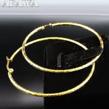 Pendientes circulares de acero inoxidable para mujer, joyería de Color dorado, pendientes extragrandes, joyería para mujer E612625, 2021