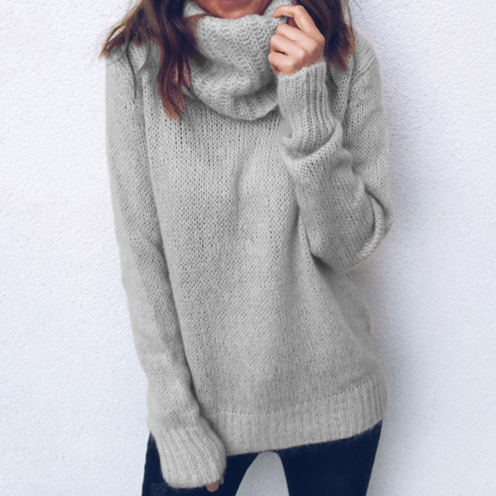 Womens Ladies Oversized Sweater Jumper Chunky Knit Long Pullover Sleeve Top S-XL