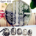 Смешанные Арабески Nail Art Шаблона Штемпеля Плиты Изображения Шаблон # Qgirl-033