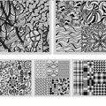 5 Unids/set NICOLE DIARIO Nail Art Estampa Imagen Platea ND111-115 Cuadrados Placas Clavo Que Estampa la Plantilla de Acero Inoxidable