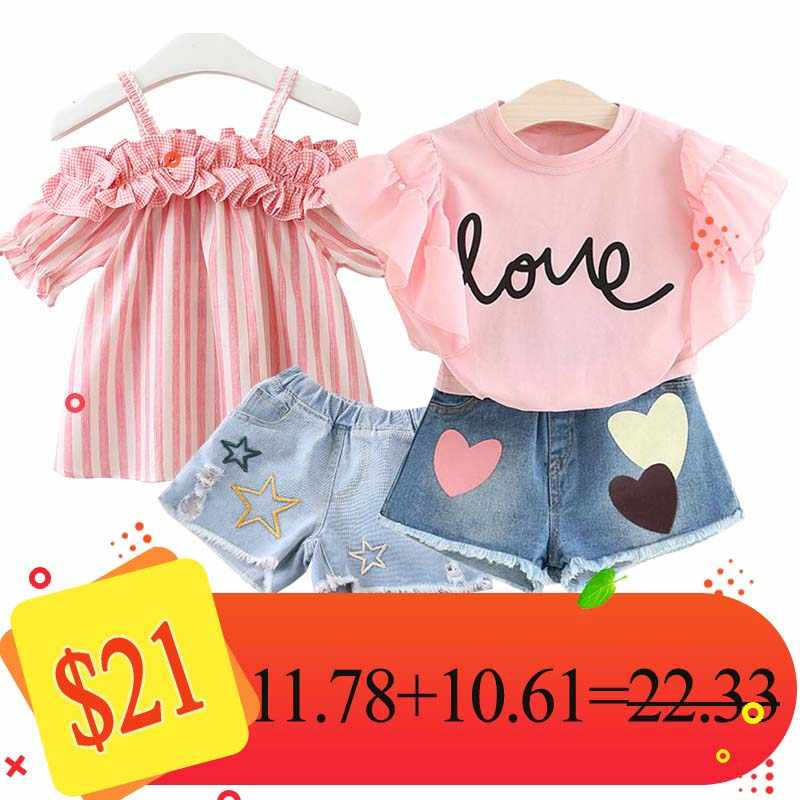 Humor Bear Combination Kids Clothing Sets Children clothing Girls Clothes 2018 Brand Girls Clothing Sets
