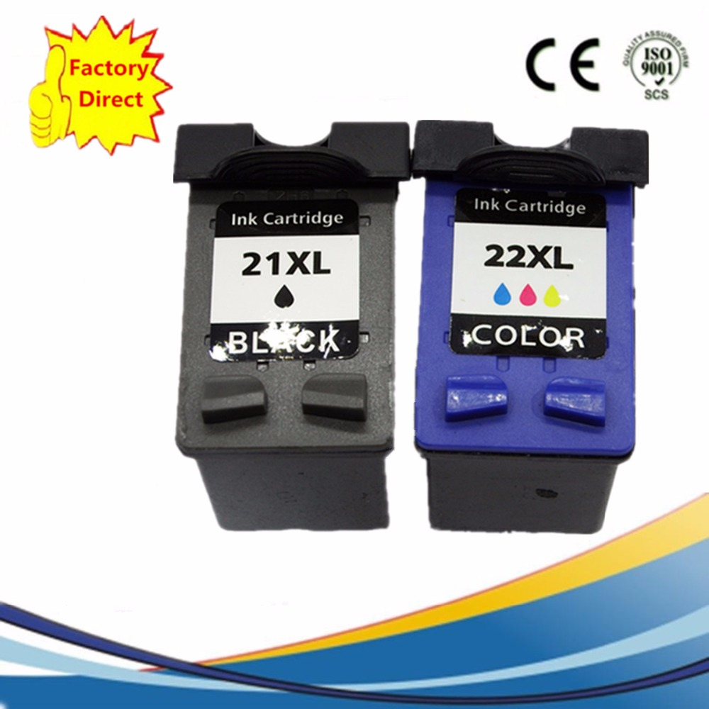 Ink Cartridge Remanufactured For HP21XL 22XL  HP21XL HP22XL DeskJet D1470 D1520 D1530 D1558 D1560 D1568 D2320 D2330 D2345