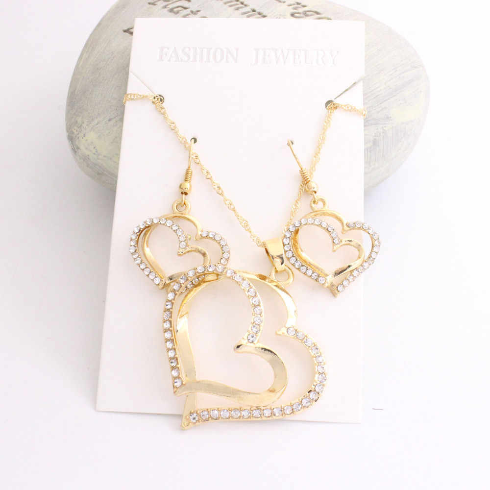 Stylish Bar Jewelry Sets Maxi Earring Necklace Best Friend Choker Princess Bride Bridesmaid Romantic Creative Earrings Necklaces