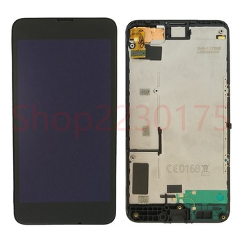 цена на For Nokia Lumia 630 RM-977 RM-978 LCD Display Touch Screen Digitizer Assembly Frame Replacement Parts