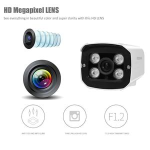Image 4 - Câmera de segurança ahd full hd 1080p 720p, para uso externo, à prova d água, 4 peças, array, infravermelho, visão noturna, metal, vigilância por bala câmera cctv para vigilância