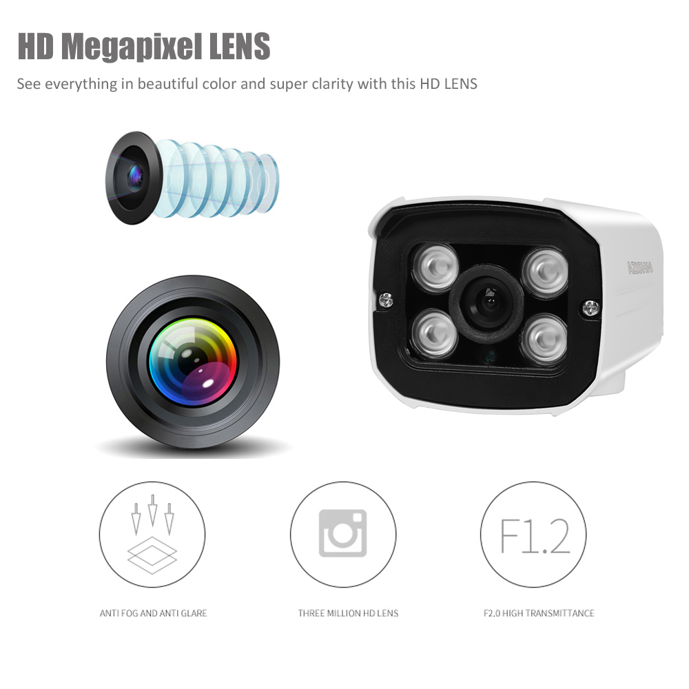 Full HD 1080P 720P Security AHD Camera Outdoor Waterproof 4pcs Array infrared Night Vision Metal Bullet Surveillance CCTV camera