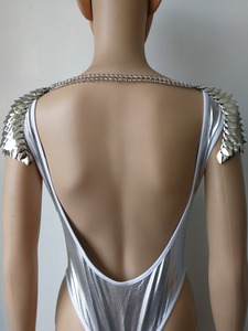 Image 5 - New Fashion Scalemail Mermaid Fish Scales Head Chains Layers Scale Chainmail Silver Fish Scale Head Hair Chains Jewelry