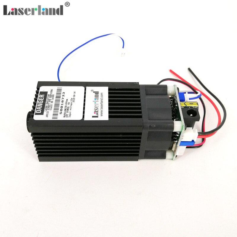 12VDC 450nm 445nm 4.75 w 5 w Modulo di Diodi Laser Blu per la macchina Per Incidere di CNC/Taglio/Marcatura Incisore