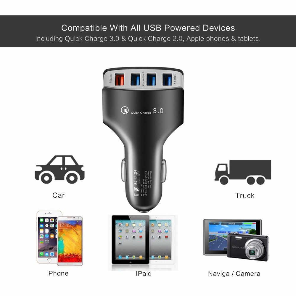 XEDAIN عالية الجودة 4 ميناء USB شاحن سيارة 5V 7A بسرعة تهمة 3.0 سيارة-مهايئ شاحن ل فون سامسونج Xiaomi هواوي اللوحي