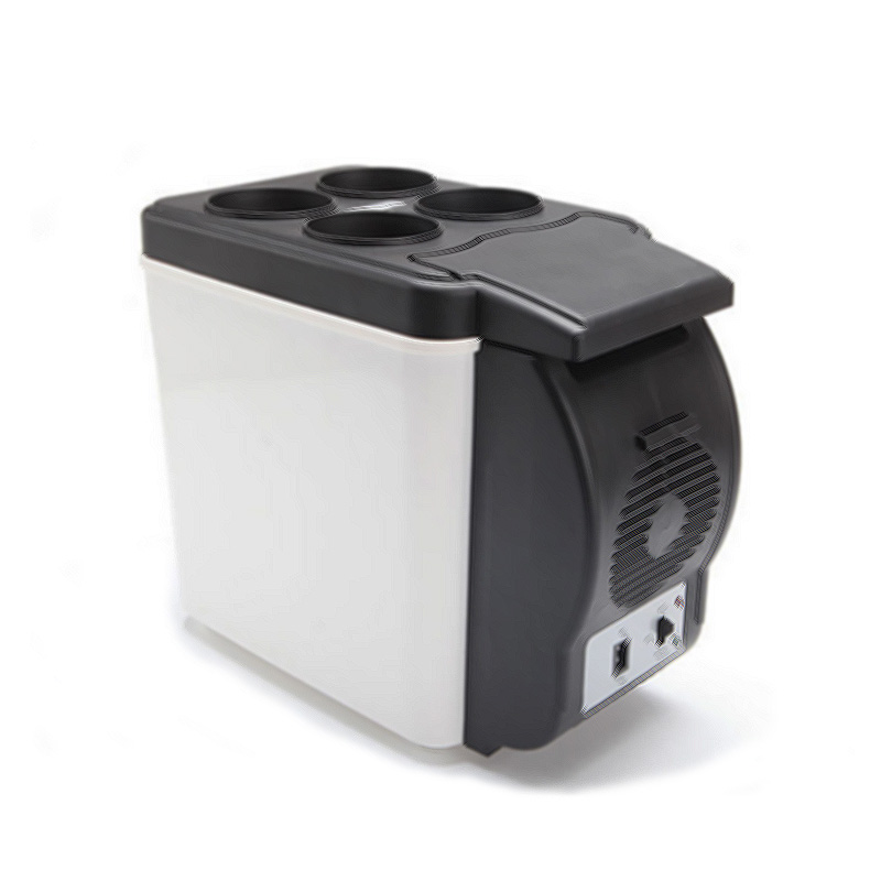 ФОТО Hot Sale 6L Mini Car Refrigerator Portable Fridge Freezer Automotive or Home Cold Heating Refrigerator Incubator