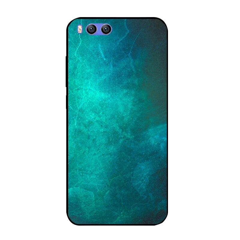 Черный кожи для Xiaomi 6 Телефон чехол для Xiaomi M6 mi6 Мягкие TPU В виде ракушки ультра тонкий 5.15 дюймов задняя крышка красочный Узор Fundas
