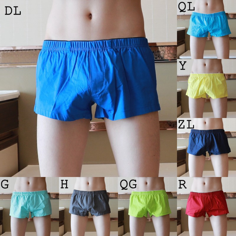 2019 Fashion Men's Underpants Home Shorts Men's Sleepwear Cotton Breathable Loose Boxer Shorts