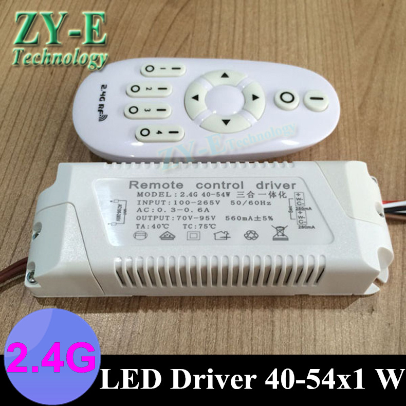 2set led driver LED ceiling driver intelligent 2.4G Wireless RF Remote Controller lights driver block shap40-54w panel driver 20pcs 12w led light panel smd 5730 ic driver pcb input voltage ac110v 130v needn t driver aluminum plate free shippping
