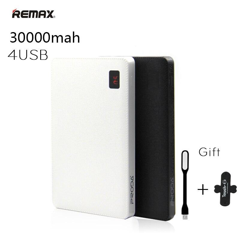 Remax Tragbare 30000 mah Energienbank 30000 mAh Power 4 USB Externe Ladegerät für iPhone 6 7 plus Für iPad Handys