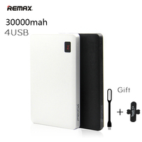 Remax Portable 30000 Mah Power Bank 30000mAh Powerbank 4 USB External Battery Charger For IPhone 6
