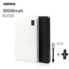 REMAX Портативный 30000 мАч Мощность Bank 30000 мАч Мощность банк 4 USB внешний Батарея Зарядное устройство для iPhone 6 7 Plus Для IPad мобильных телефонов