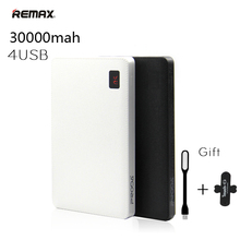 Remax Portable 30000 mah Power Bank 30000mAh Powerbank 4 USB External Battery Charger for iPhone 6 7 plus For iPad Mobile Phones