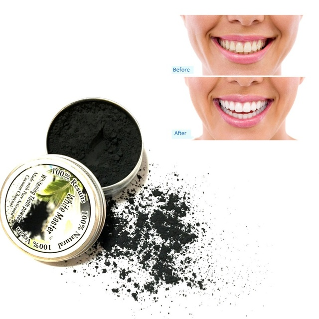 Tooth Powder Teeth Whitening Black Activated Charcoal Makeup Remove