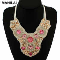 Unique Fake Collars Acrylic Beads Chokers Statement Necklaces Spring Design Women Big Necklaces & Pendants Fashion Accessories