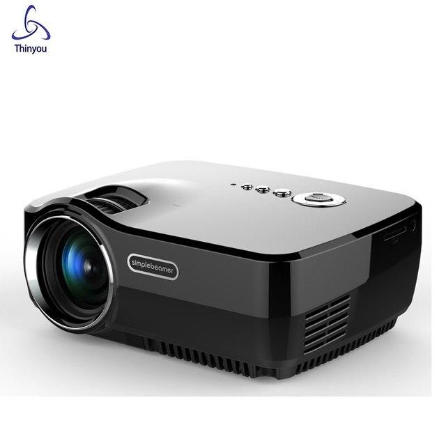 Thinyou Мини СВЕТОДИОДНЫЙ Портативный Проектор 800x480 pixels 800 Люмен Мультимедиа Домашний Кинотеатр HDMI/USB/SD/AV/3.5 мм Проектор
