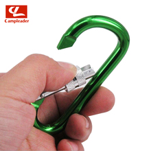 5pcs 8# D type Large Aluminum Alloy Carabiner Outdoor Safety Hang Buckle Color Thread Keyring Snap Hook CL281