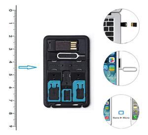 Image 4 - ALL IN ONEขนาดบัตรเครดิตSlim SIM Adapter Kit with TF Card Reader & SIM Cardถาดใส่ถาด,ผู้ถือซิมการ์ด