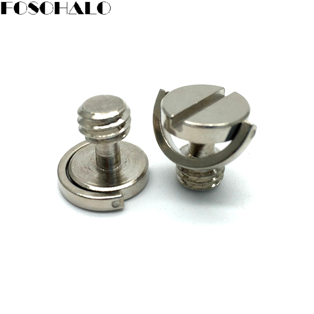 FOSOHALO 1pcs Quick Release Plate 3/8 Screw Precision Stainless Steel D-Ring Screw for Camera Tripod Photo Studio Accessories