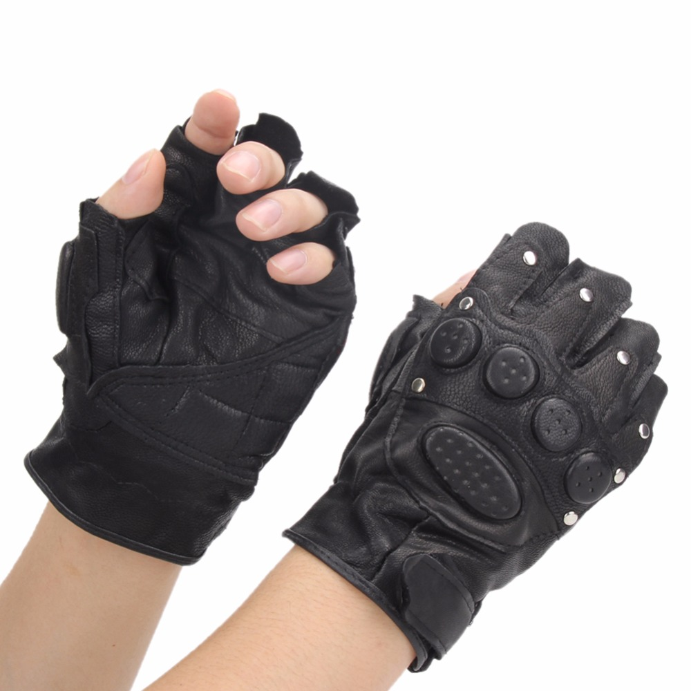 Fingerless gloves climbing - 1 Pair Military Cycling Gloves Rock Climbing Glove Motorcycle Tactical Riding Bike Mittens Breathable Sports Half