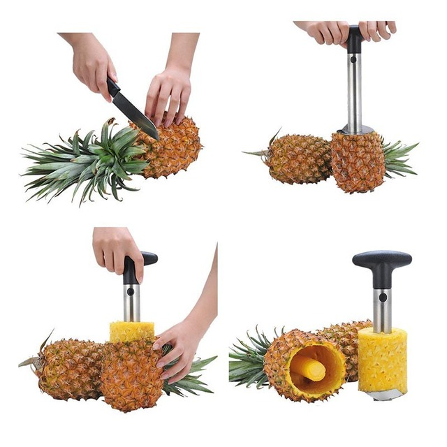 1 piece stainless steel pineapple slicer and Peeler