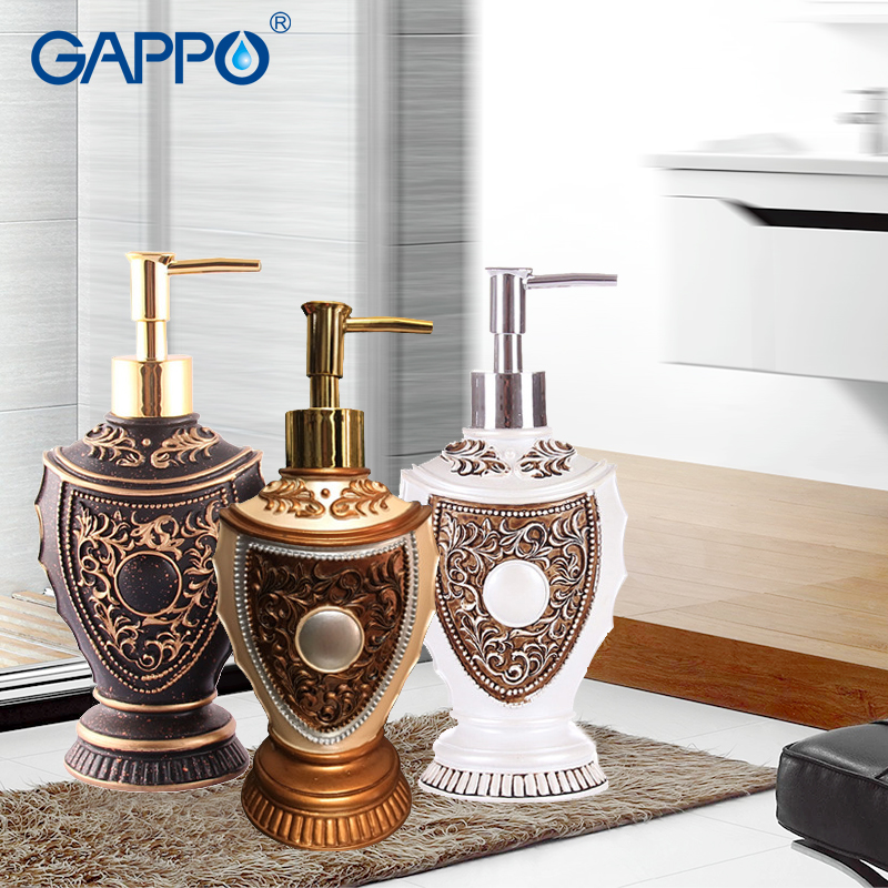 GAPPO liquid soap dispensers resin soap pump imported resin Bottles Bath Bathroom accessories soap dispensers bottles handmade dog printed soap stamp diy footprint natural soap resin stamp acrylic crystal transparent seal for soap z0116jy