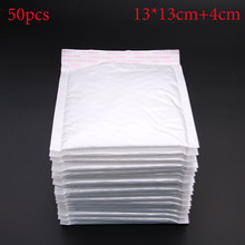 Wholesale 50pcs / Lot Manufacturer White Light Film Bubble Envelope Bags Mail Shockproof Envelope Paper 13x13cm + 3.3cm