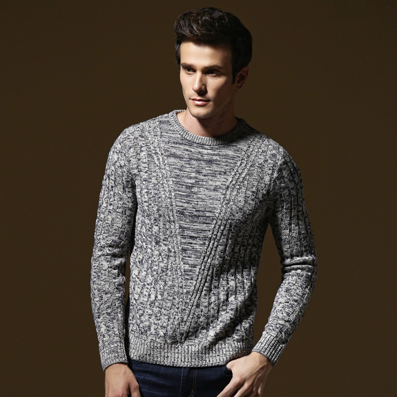 Pullover Men Knitwear 2018 Spring Mens Sweater Pullovers Male Casual Sweaters Classic Simple Solid Color Men Sweater 19