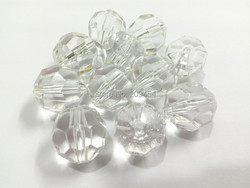 (Choose Size First) 10mm/12mm/14mm/16mm/18mm/20mm  Clear Transparent Big Faceted Beads,Chunky Jewelry Beads