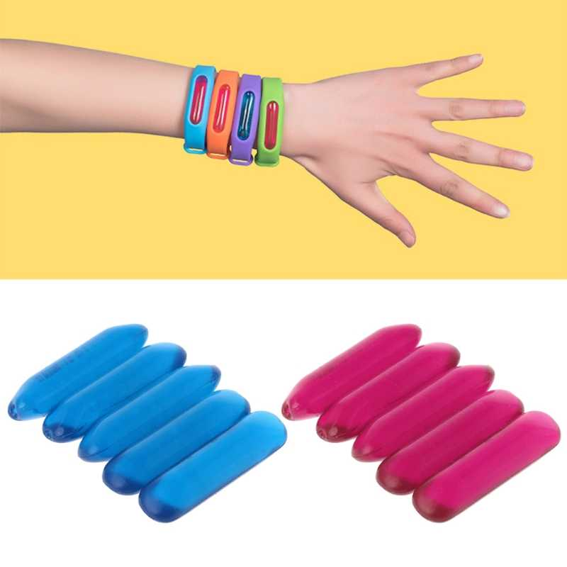 5pcs Anti-Mosquito Oil Capsule Mosquito Repellent Bracelets Accessories5pcs Accessories