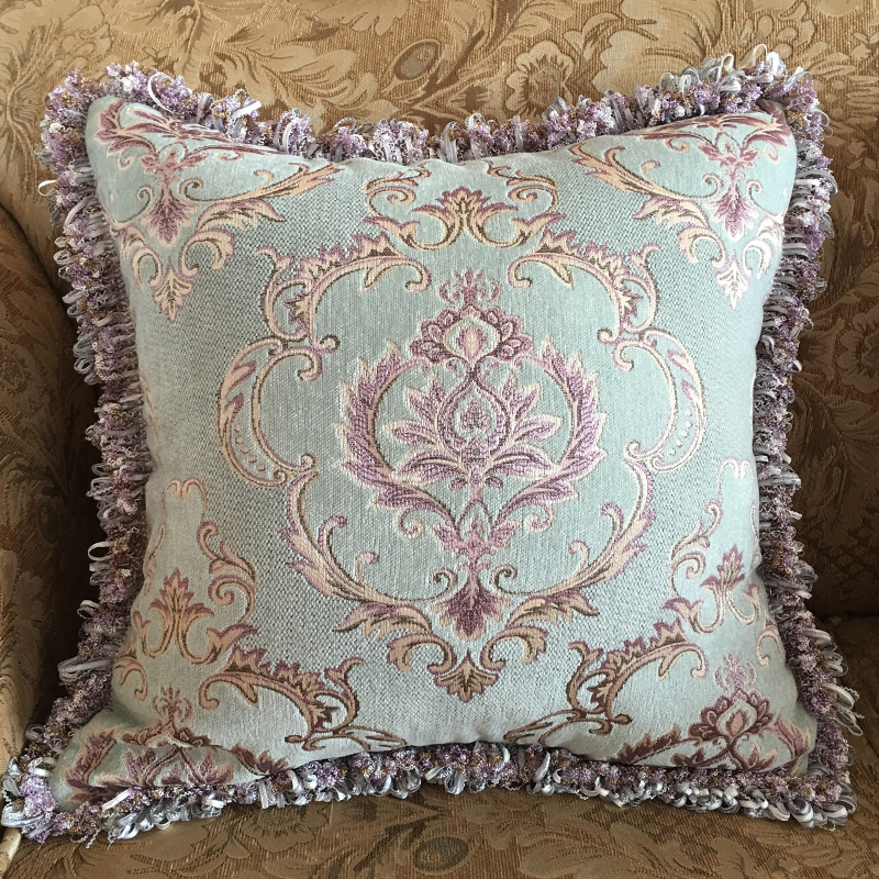 New Luxury Ceative Cushion Cover Square Jacquard P Throw Pillow Covers With Tassel Embroidered ...