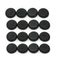 100 PCS TPU Thumbstick Joystick Grips Cap Cover for PS4 Controller Wireless Black