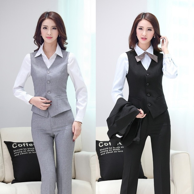 Aliexpress.com : Buy Summer Formal Pant Suits Women Business Suits ...