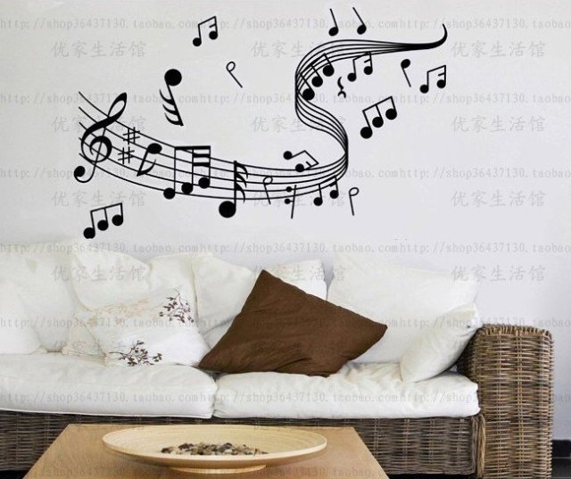 Free shipping,[58cm*45cm]music wall stickers ,DIY Decoration,wholesale
