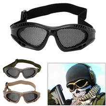 Goggles Eye-Protective Tactical-Glasses Safety Airsoft Anti-Fog with Metal Mesh 3-Colors