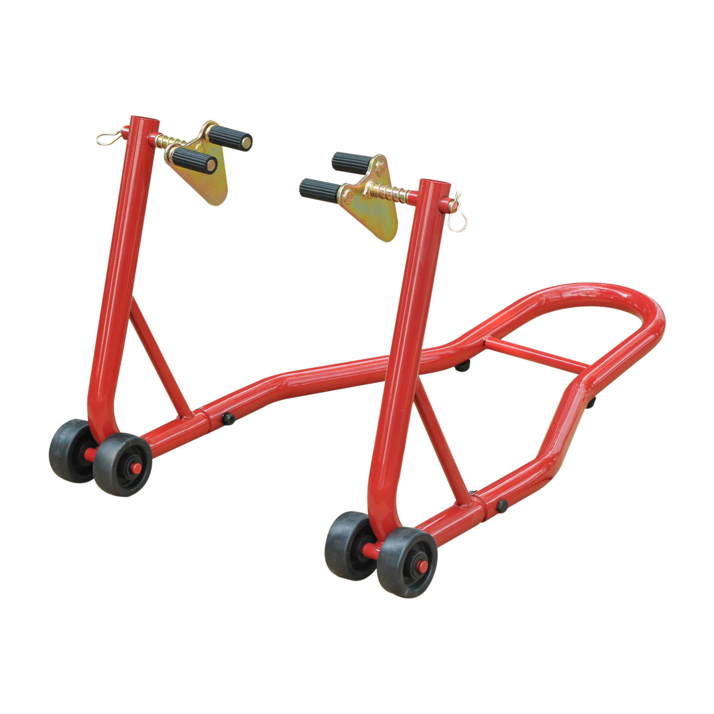 resistente para aparcamiento para rueda delantera Soporte para rueda delantera de motocicleta
