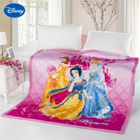 Disney Princess Summer Quilts Comforter Bedding Cotton Bed Spread Cover 3D Prints Cartoon Bedroom Decor Girls Set Soft and Cool