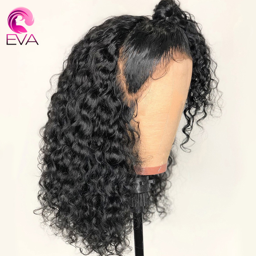 150 Density 13x6 Deep Parting Lace Front Human Hair Wigs Pre Plucked Curly Wig Glueless Lace