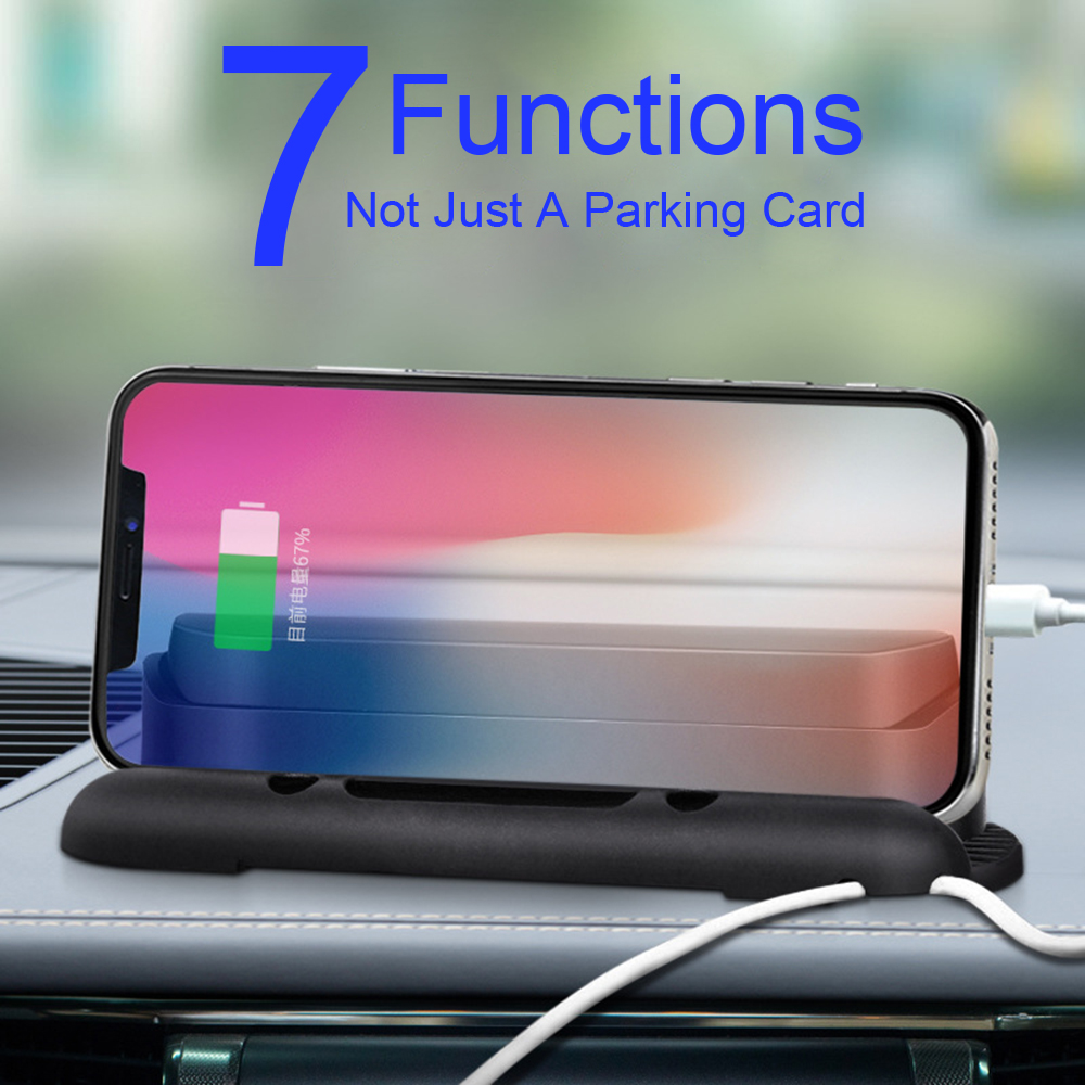 Temporary Car Parking Card Luminous Numbers Auto Air Freshener Phone Holder Support Cable Clamp Storage Decoration Accessories