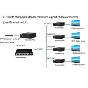 Image 4 - Cat5e/Cat6 UTP 케이블을 통한 HDMI 익스텐더 송신기 수신기 RJ45 LAN 이더넷 지원 1080P