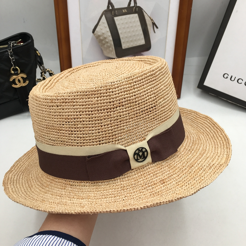 The new spring summer day in the big M mark sun hat fine crochet lafite  grass beach hat gibus han edition men and women ecded74afb33
