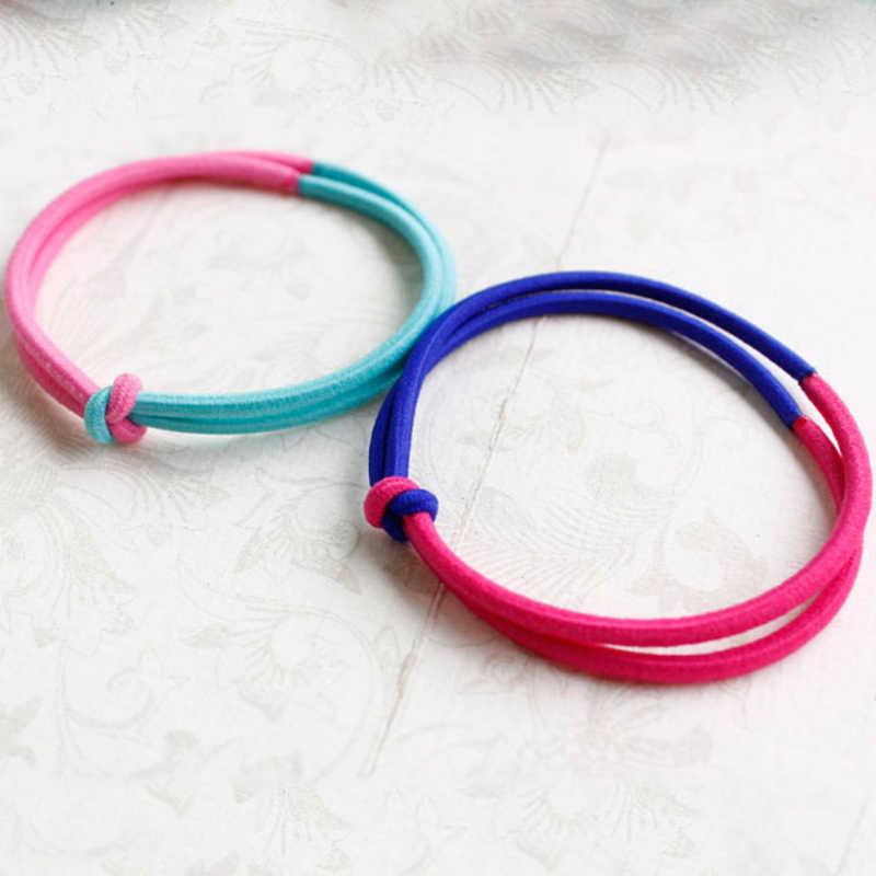 เกาหลีรุ่นแหวนเรืองแสง 2 สีแฟชั่นหางม้าอุปกรณ์เสริมผม wild วงยางหญิงผมแหวนอารมณ์